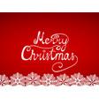 congratulation of merry christmas vector image vector image