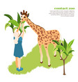 contact zoo composition vector image vector image