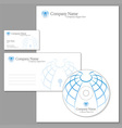 corporate identity set vector image vector image