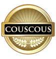 Couscous Gold Label vector image vector image