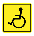 disabled yellow sign vector image