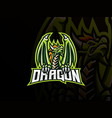 dragon mascot sport logo design vector image vector image