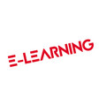e-learning rubber stamp vector image vector image