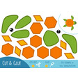 education paper game for children turtle vector image vector image