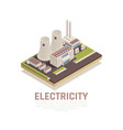electricity isometric concept vector image vector image
