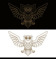 emblem template with owl in golden style design vector image vector image