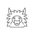 fairy monster line icon concept fairy monster vector image