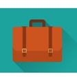 Flat Icon of Briefcase vector image