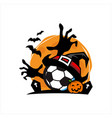 football halloween theme vector image