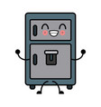 fridge kitchen appliance cute kawaii cartoon vector image vector image