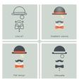 Gentleman Mask Disguise Victorian Hat Mustache Bow vector image vector image