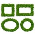 Green grass frames set vector image vector image