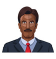 handsome man with moustaches on white background vector image vector image