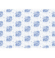 indigo blue and white seamless floral pattern vector image vector image