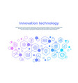 innovation line concept laboratory research vector image vector image