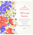 invitation with abstract flowers on a white backgr vector image vector image