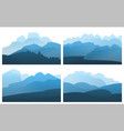 landscape mountain peak horizon travel background vector image
