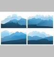 landscape mountain peak horizon travel background vector image vector image