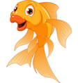 Little funny goldfish vector image
