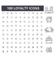 loyalty line icons signs set outline vector image vector image