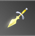 magic knife isolated game element vector image vector image