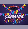 masquerade concept carnival banner vector image