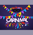 masquerade concept carnival banner vector image vector image
