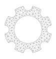 mesh gear icon vector image vector image