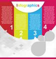 modern infographics image vector image