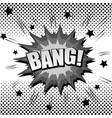monochrome explosive comic template vector image vector image