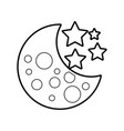 moon stars astronomy universe science vector image