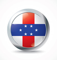 Netherlands Antilles flag button vector image vector image