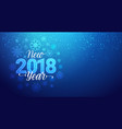 new year 2018 greeting banner with snowflakes vector image vector image