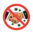 no handshake icon isolated on vector image