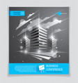 office building brochure modern architecture vector image