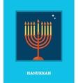 open window with Hanukkah menorah happy hanukkah vector image vector image