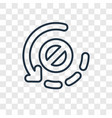orbit concept linear icon isolated on transparent vector image