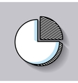 pie graph statistic line icon vector image
