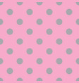 pink and gray seamless polka dot pattern vector image