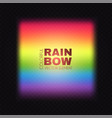 rainbow on transparent background realistic vector image