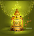 ramadan kareem greetings design with vector image vector image