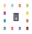 refrigerator flat icons set vector image