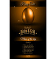 restaurant menu template for 2017 easter vector image vector image