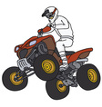 Rider on the red ATV vector image vector image