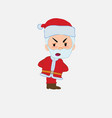 santa claus is slightly angry vector image vector image