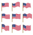 set flags united states america isolated vector image vector image