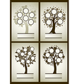 set of family tree 1 vector image vector image