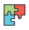 Solve Puzzle vector image vector image