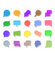 speech bubble color silhouette icons set vector image vector image