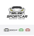 sport car logo vector image